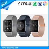 2016 New Arrive Smart Watch Z50 Mental Strap with touch screen SIM card slot Mobile Phone Bluetooth Smart Watch