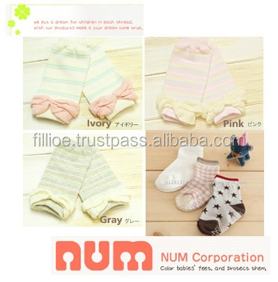 Durable and Cute Popular baby memory book Japanese design NUM cute young girl tube socks with Various types of baby item