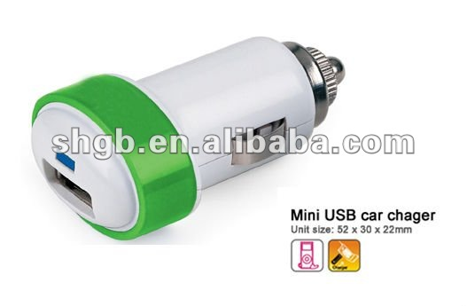 5V/1.5A USB Mini Car Charger for iphone, ipad, ipod