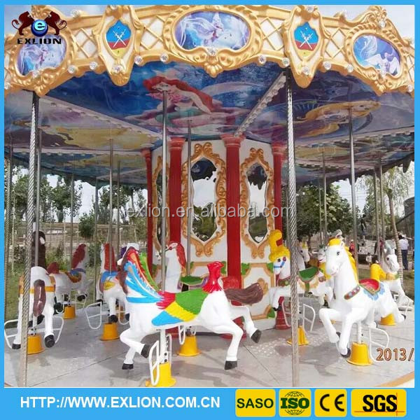 2016 attraction indoor electric amusement park carousel horses for sale