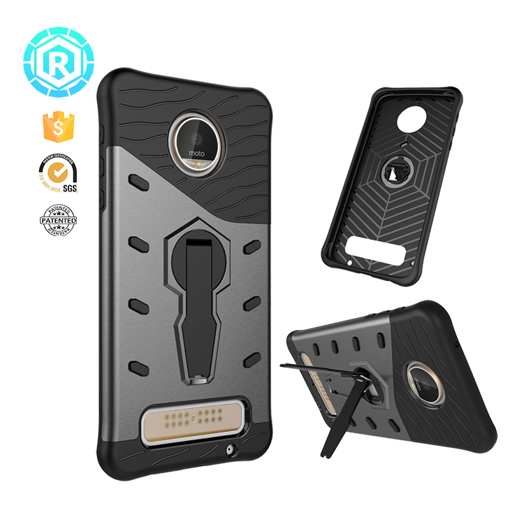 New free samples dropship dual layer high impact phone case cover for MOTO Z Play