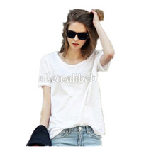 Apparel Wholesale High Quality 100% Cotton Blank Colorful Short Sleeves Women Fashion T shirts