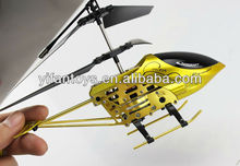 Hottest Copter GOLDEN Mini 3 CH RC Alloy Helicopter with Gyro Toys and Hobbies