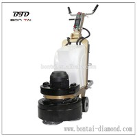 Small dry and wet concrete floor grinding and polishing machine