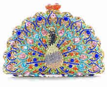 AB7000#57 New Arrival Women Fashion Bling Crystal Clutch Bag indian beaded party bags