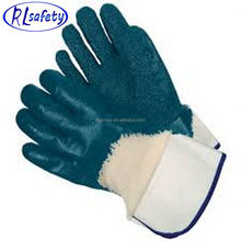 RUNLEI SAFETY favorable price sandy nitrile full hand double coated nylon lined glove
