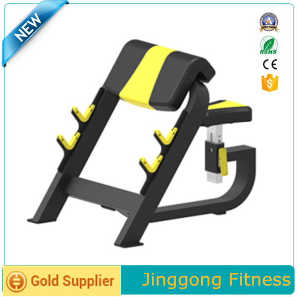 2016 Professional factory directly commercial gym/fitness equipment/cables over cross// JG-1613 Seated Preacher Curl