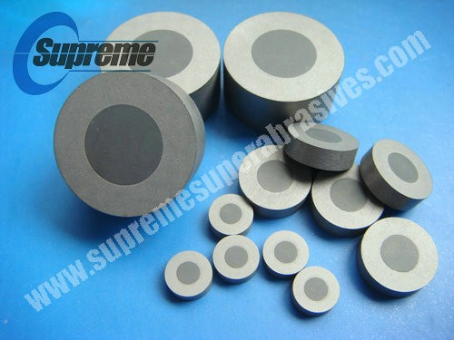Tungsten carbide supported PCD diamond wire drawing die blank / PCD blank