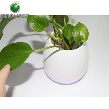 Really Plant Put Into Smart Music Pot & LED Music Flowerpot with speaker