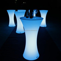 2015 hot waterproof LED bar table/illuminant plastic bar furniture