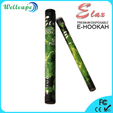High quality soft tip strong vapor 500 puffs disposable e hookah disposable ecig