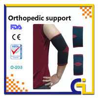 Nylon Elbow Brace Support With Silicone Pad, Compression Sleeves