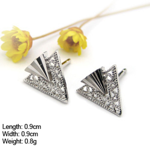 D-56 wholesale jewelry new designs gold jhumka earring 925 silver ear stud with cz stone