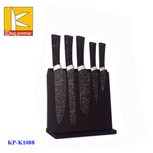 magnetic holder 5pcs colorful non-stick stainless steel kitchen knife set