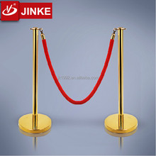 Portable Metal Rope Barrier Pipe Stanchion For Crowd Control System