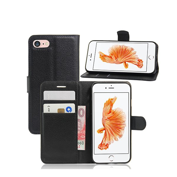 "Magnetic Flip Wallet Case For IPhone 7 6 Leather Cover 4.7"" New Flip Cover For Apple Case"