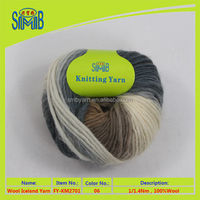 shanghai oeko tex shingmore bridge fancy yarn spinner tops wholesale hand knitting roving yarn on skeins