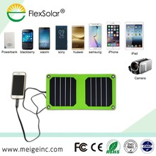 Flexsolar 5W waterproof solar charger android solar charger for powerbank