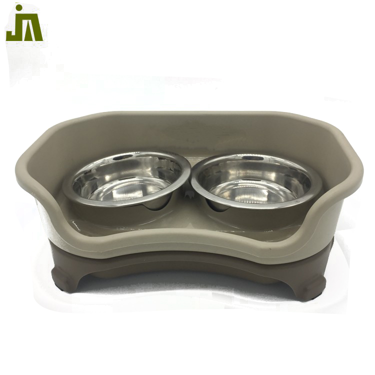 Dog used stainless steel suction cup pet travel bowl