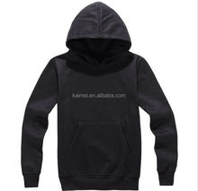blank pullover hoodies men's plain Heavy Weight Black Fleece Fabric black hooded sweatshirts oem manufacture