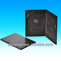 7mm double black dvd case /clear 7mm/black hard case