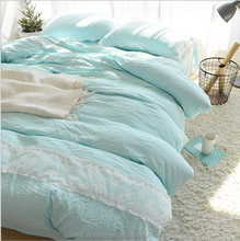 Korean style home bedding sets Fresh and look warm bedding suits