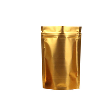Wholesale Resealable Aluminum Foil Stand Up Coffee Bag Gold Foil With Ziplock For Food Packaging