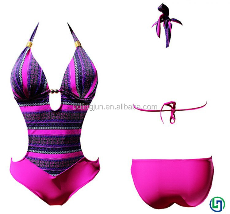 2015 fashion printed swimwear fabric Bohemi National wind totem lady swimwear bathing suits