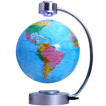 "6"" and 8"" magnetic Rotating globe luminous globes anti-gravity floating earth globe learning teaching globe home and office deco"