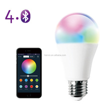 Lowest price a19 bluetooth smart led light bulb 110V controlled by smartphone
