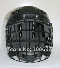 2016 hot sale PP out shell +ABS foam Ice Hockey helmet with cage meet CE standard