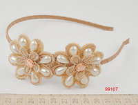 Fashion headbands hairbands for women wholesale Pearl fancy hairbands headbands with Bads