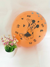 children party decoration mickey printed latex balloons