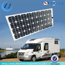 High efficiency 250W Semi Flexible solar panel, soft solar panel for car