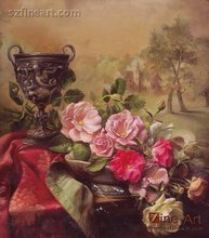 100% Handmade New design Beautiful classical oil painting pictures of flowers