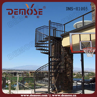 spiral metal outdoor iron stairs