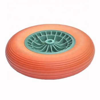 Foam Solid Run Flat Water Proof 400-8 PU Wheel