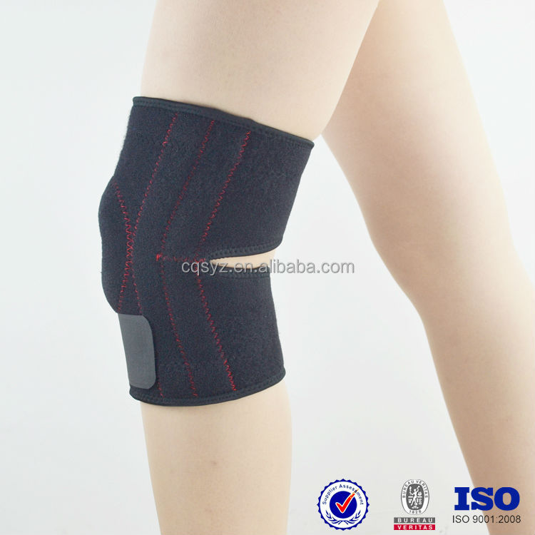 new neoprene OK cloth Adjustable comfortable guards with Non-slip material China manufacturer waterproof volleyball knee wraps