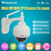T7833WIP-X3 Wifi IP Camera Outdoor PTZ Dome Wifi Networking IP Camera Wireless Wifi