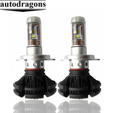 X3 <strong>car</strong> led headlight kit 6000K H1 H3 H4 H7 H11 9005 9006 9004 9007 880 881 50W 6000LM auto lighting system