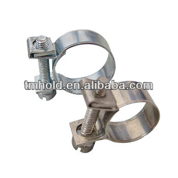 metal steel smallest fuel line injector hose clamps for tube