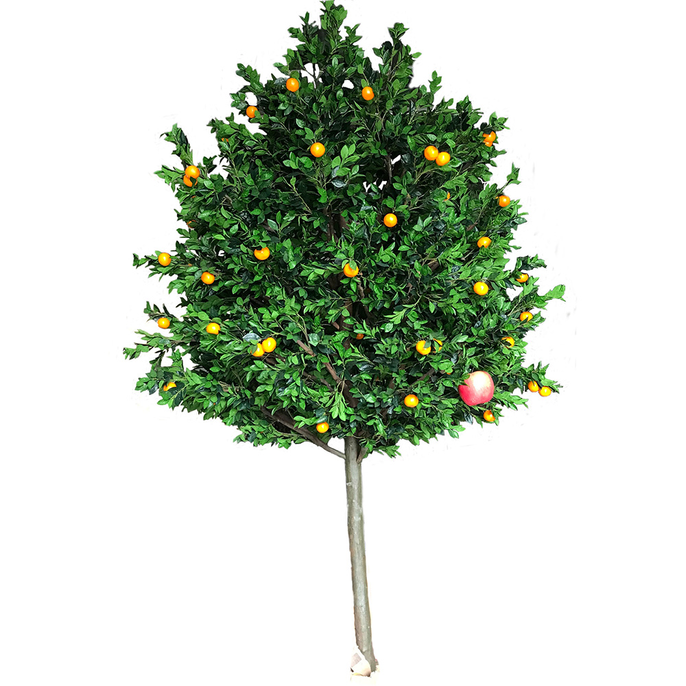 Plastic Ornamental Plants Artificial Orange Tree with Fruit