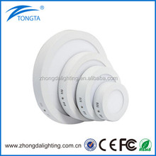 High Quality 18w round surface mounted led panel light 3w-48w flat panel light led recessed