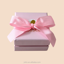 Pink jewelry box wholesale custom paper gift necklace earrings ring pack box