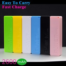 high quality 2600mAh power bank,mobile phone external 18650 battery,backup power portable charge&powerbank for xiaomi all phone