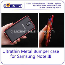 Ultrathin Aluminum Metal Hard Frame Bumper Case Cover for Samsung Galaxy Note 3 Note III N9000 Paypal Acceptable