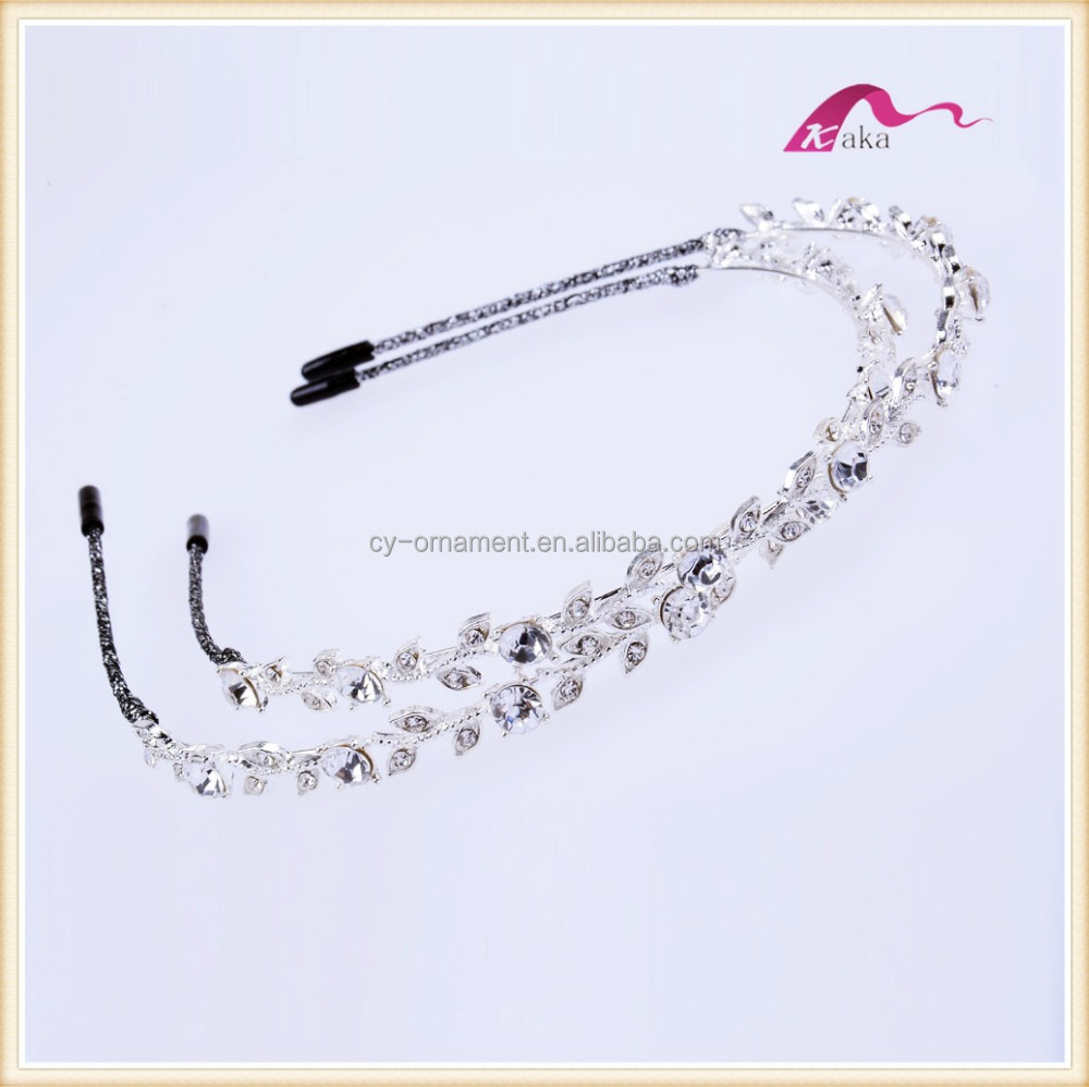 Beautiful Designer Crystal Wreath Decorative <strong>Headband</strong> For Wedding Accessories