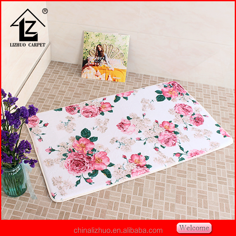 printed flowers room carpets for baby