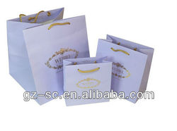 Famous brand paper bag with golf foil logo