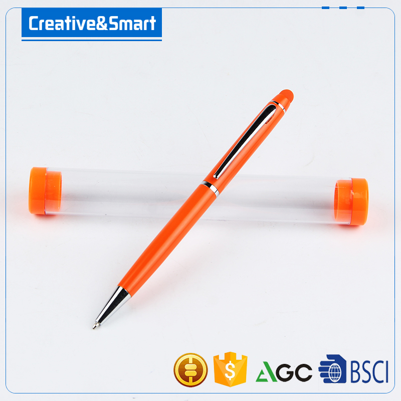 Free Sample Top-Level Quality Custom Logo Ball Point Stylus Touch Pen For Business Or School, Metal Ball Pen